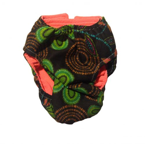 blacklight flower diaper - back