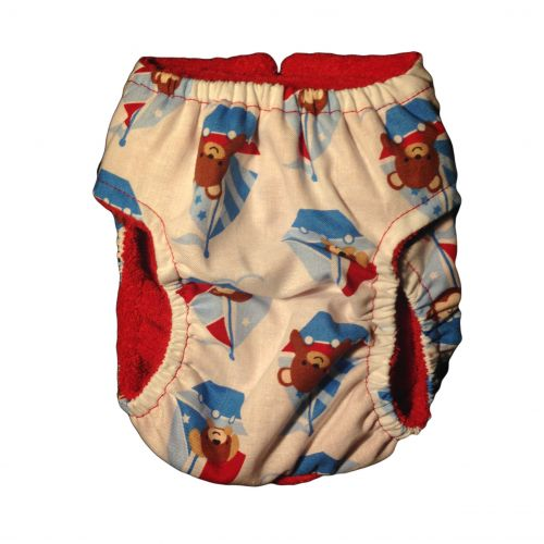 sailboat diaper - back