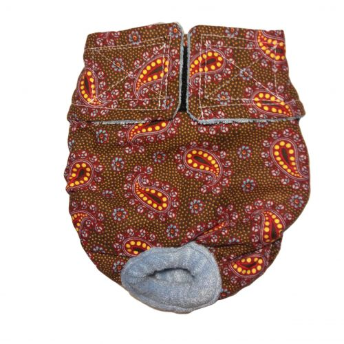 copper paisley diaper
