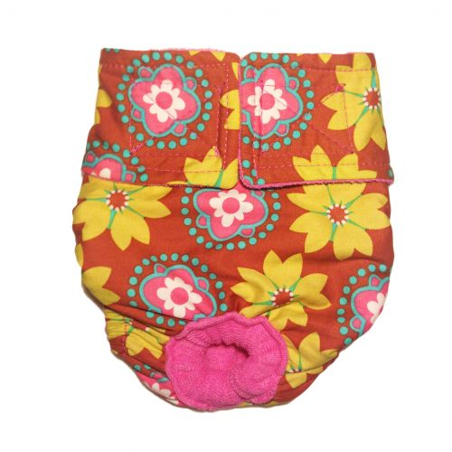 forever flower on orange diaper