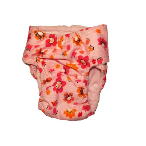 spring flower on pink diaper - back