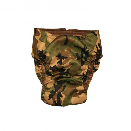 camo pul diaper - back