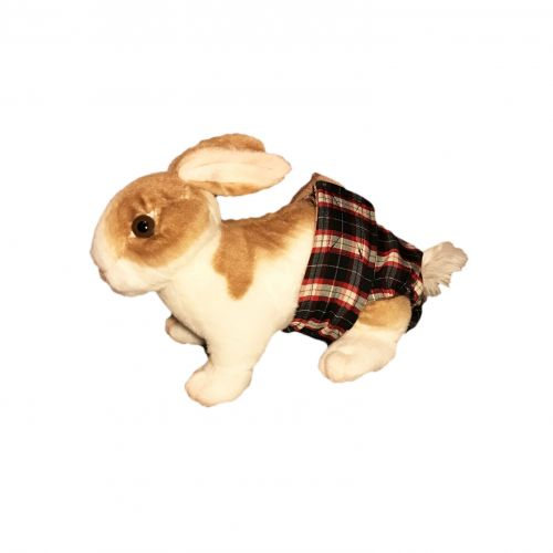 american plaid diaper - bunny