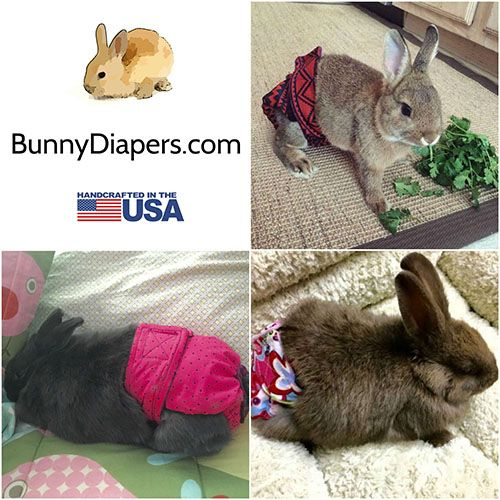 bunny diapers collage - lite 500x500