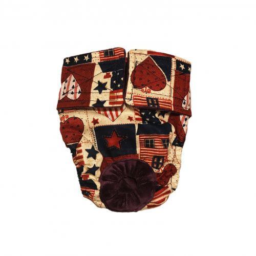 hearts and patriotic love diaper