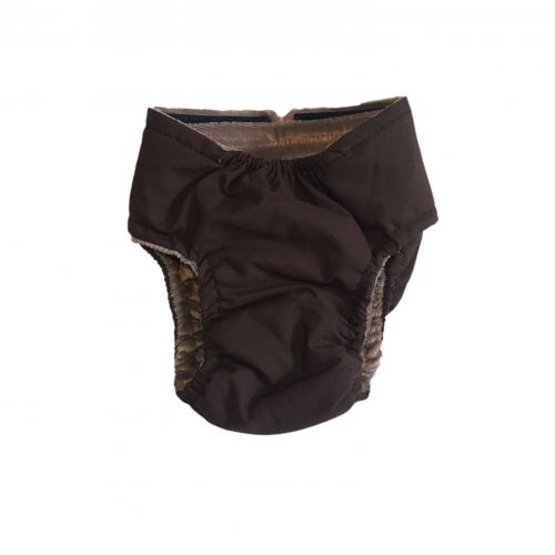 brown diaper - back