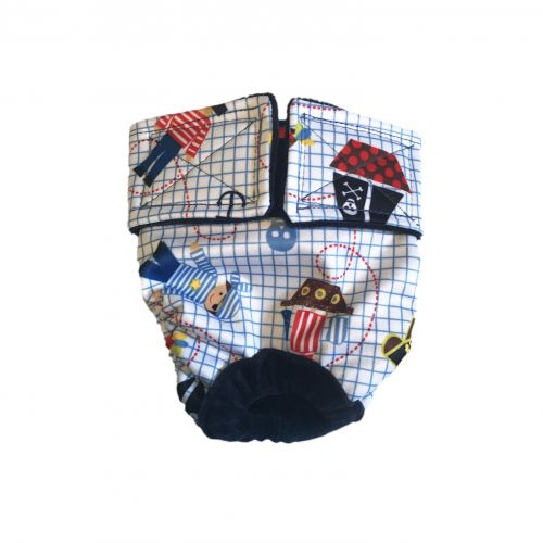 pirate and skull pul diaper