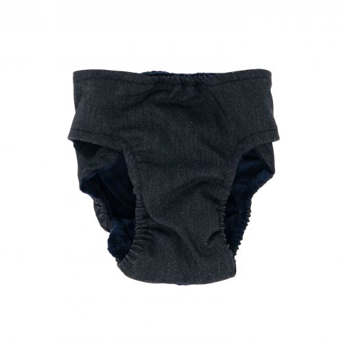 charcoal gray diaper - back