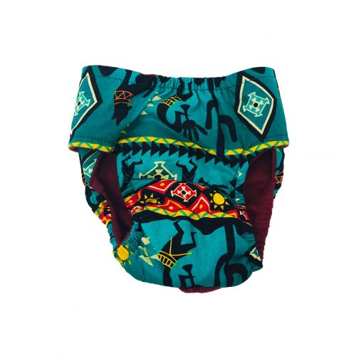 american southwest on blue teal diaper 2 - back