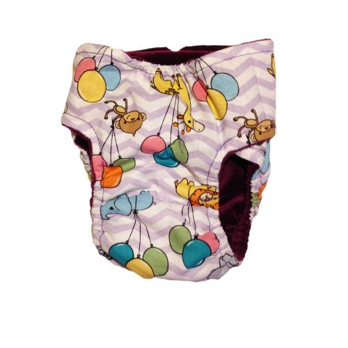 happy animals and balloon diaper - back