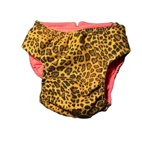 yellow leopard diaper - back