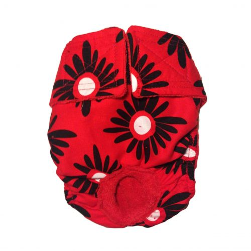 red and black flower diaper
