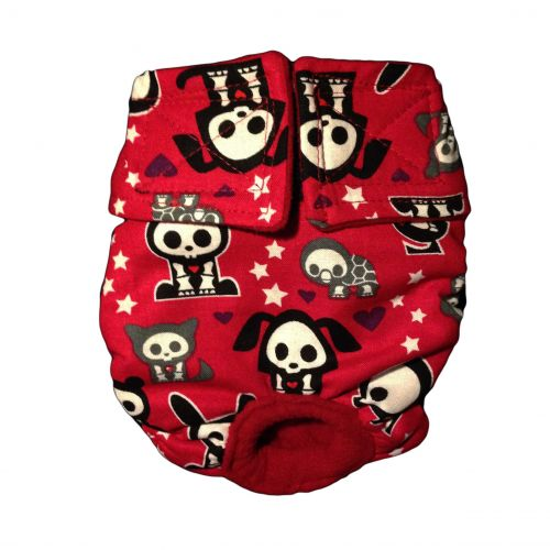 skelanimals on red diaper