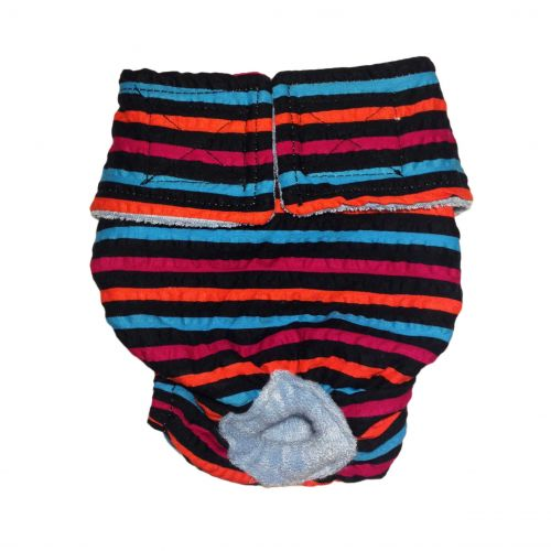 stripes on black diaper