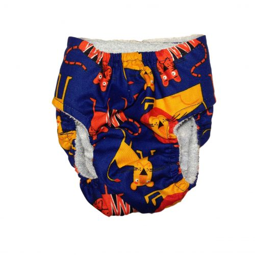 jungle lion diaper - back