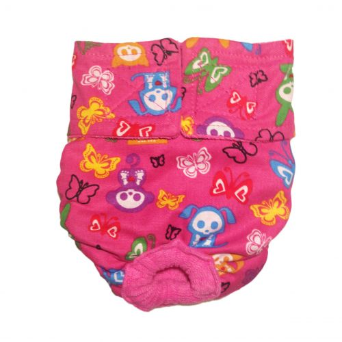 skelanimals on pink diaper
