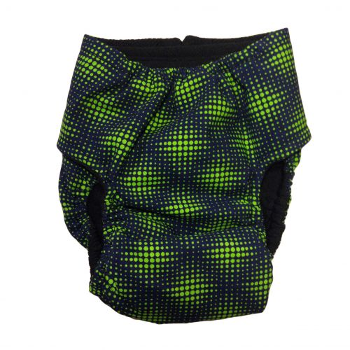 green double dots diaper - back