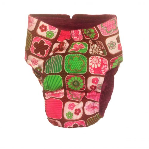 pink flower window diaper - back
