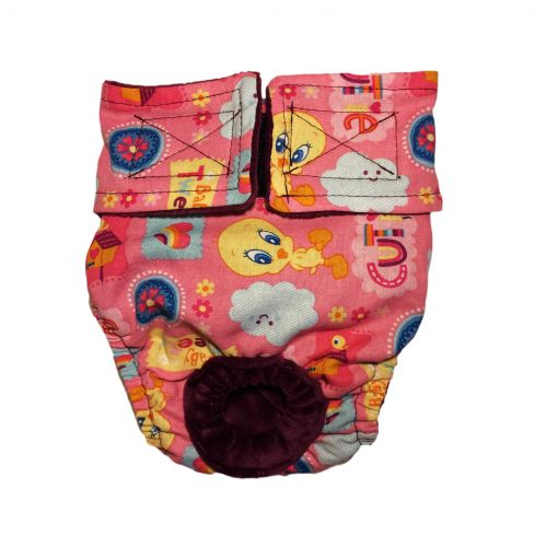cutie baby tweety on pink diaper