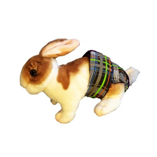 gray-plaid-neon-stripes-bunny