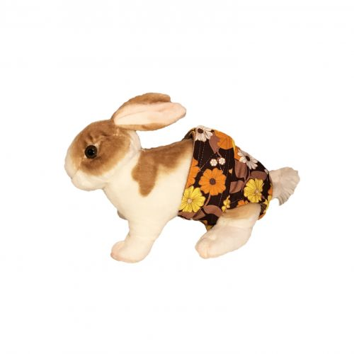 brown-and-yellow-flower-diaper-bunny