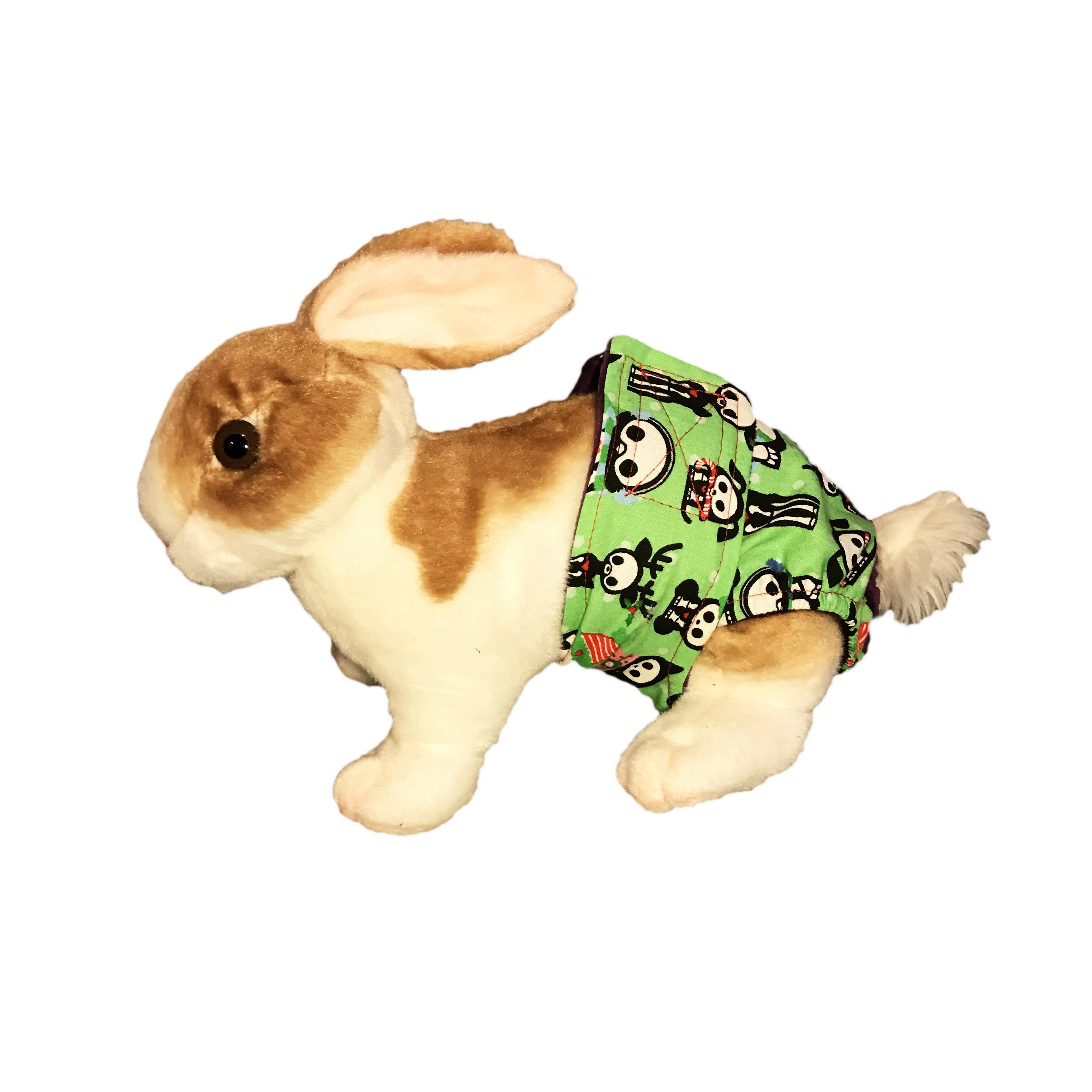 Christmas Skeleton.Christmas Skeleton Figures On Green Washable Bunny Diaper
