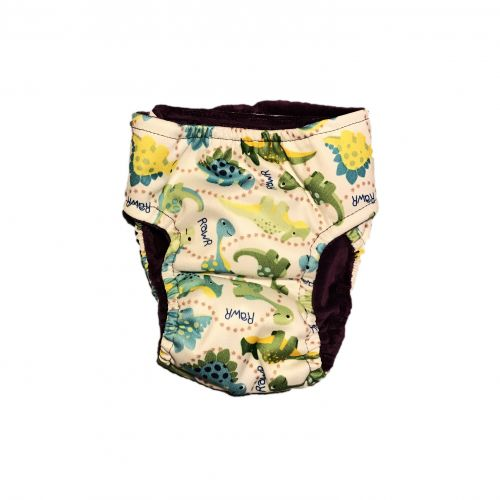 Dinosaur on White pul diaper - back