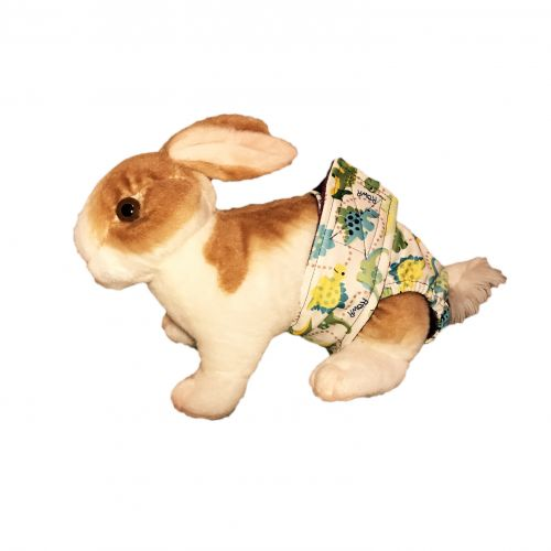 Dinosaur on White pul diaper - bunny