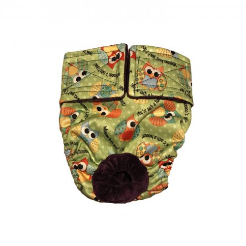 cute owls on green pul diaper