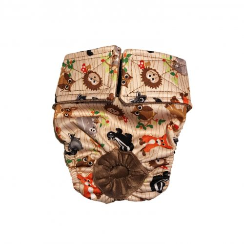 forest friends on brown pul diaper