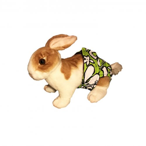 white hawaiian hibiscus on lime green diaper – bunny