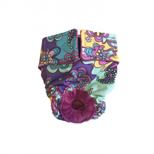 mystic flower on purple diaper