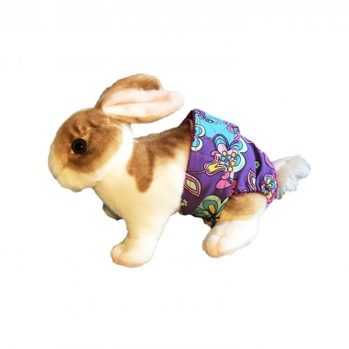 mystic flower on purple diaper - bunny