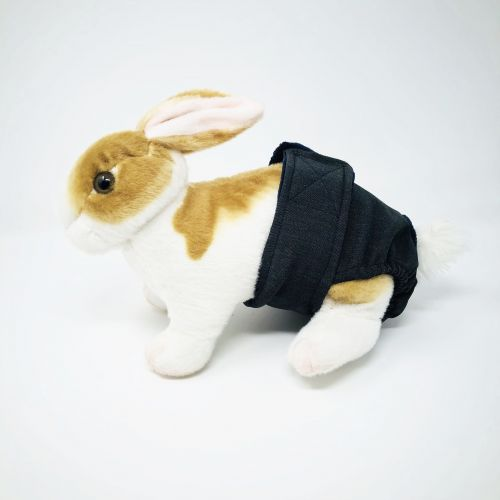 charcoal gray diaper - bunny