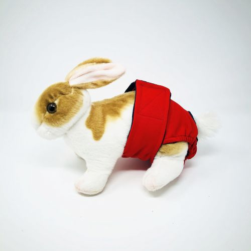 cherry red diaper - bunny