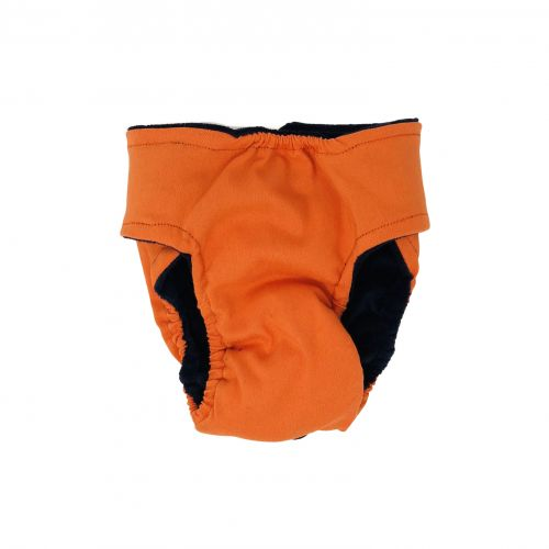 neon orange diaper - back