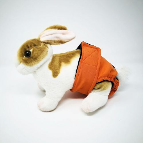 neon orange diaper - bunny