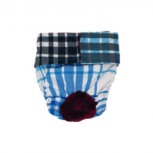 blue plaid waterproof diaper