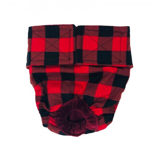 buffalo plaid diaper