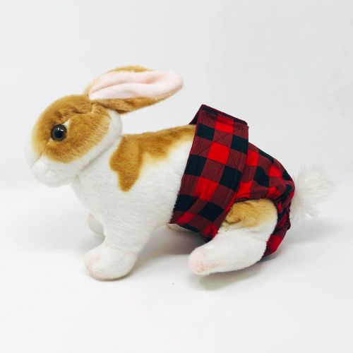 buffalo plaid diaper - bunny