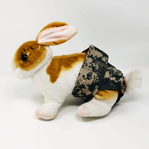 digital camo diaper - bunny